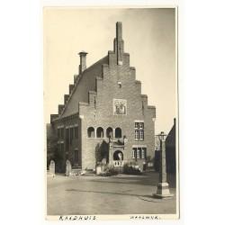 Waalwijk 1952 - Raadhuis - fotokaart