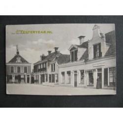 Grouw ca. 1915 - Plein met Postkantoor