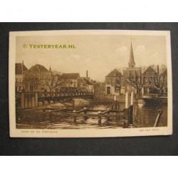 Sas van Gent ca. 1920 - zicht op de Westkade