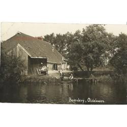 Oldeboorn 1930 - Boerderij aan het water - fotokaart