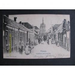 Vianen 1902 - Voorstraat met Lekpoort