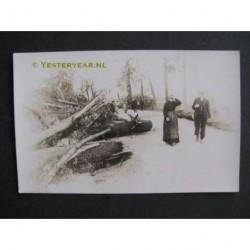 Den Haag 1921 - Haagsche Bosch - fotokaart storm