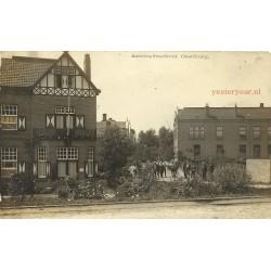 Oostburg 1917 - Ambachtschool- fotokaart