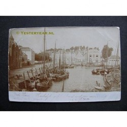 Willemstad 1901 - fotokaart-kade - haven