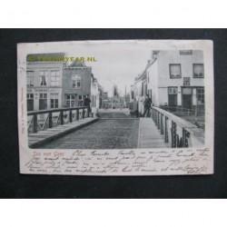 Sas van Gent 1904 - brug en gezicht op molen