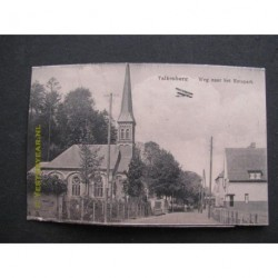 Valkenburg ca. 1920 - Weg naar het rotspark