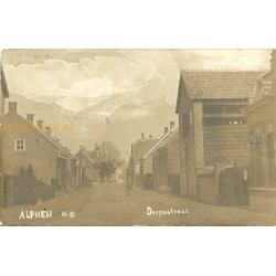 Alphen 1914 - Dorpsstraat - fotokaart