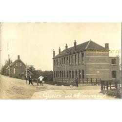 Nieuwendijk ca. 1925 - groeten uit - Rijksweg - fotokaart