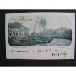 Roermond 1900 - gezicht op de Roere