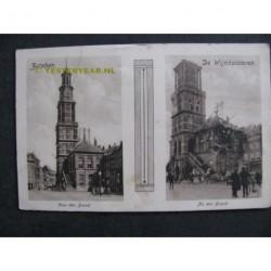 Zutphen 1920 - Wijnhuistoren - voor en na de brand