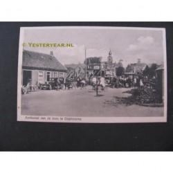 Oostvoorne 1933 - aankomst tram op het tramstation