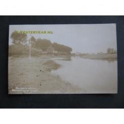 Geldermalsen 1940 - gezicht op de Linge - fotokaart