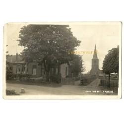 Aalburg ca. 1935 - groeten uit - kerk - school-fotokaart