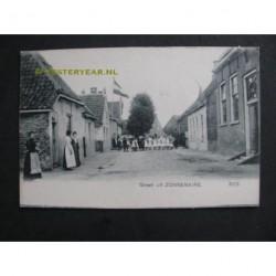 Zonnemaire ca. 1910 - groet uit - dorpsstraat