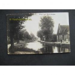 Bovenknijpe 1913 - Weg naar Bovenknype - fotokaart