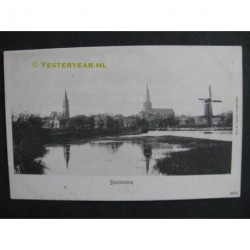 Doetinchem ca. 1905 - gezicht op Doetinchem kerken en molen