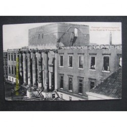 Groningen 1906 - Universiteitsgebouw brand
