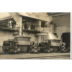 Amsterdam 1926 - koninklijk bezoek ijzergieterij-fotokaart