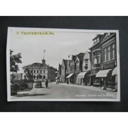 Zaandam 1953 - Zuiddijk met stadhuis - fotokaart