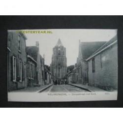 Nieuwerkerk ca. 1905 - Dorpsstraat met kerk