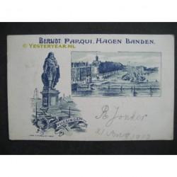 Vlissingen 1903 - gezicht op - reclamekaart