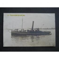 Dordrecht ca. 1920 - sleepboot Johanna- stoomboot- fotokaart