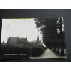 Heesch ca. 1930 - Klooster en Kerk - fotokaart