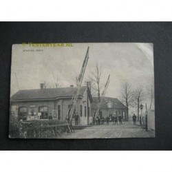 Esch 1915 - Station met spoorwegovergang