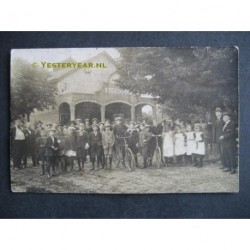 Losser ca. 1920 - de Witte Bioscoop van Lampe - fotokaart
