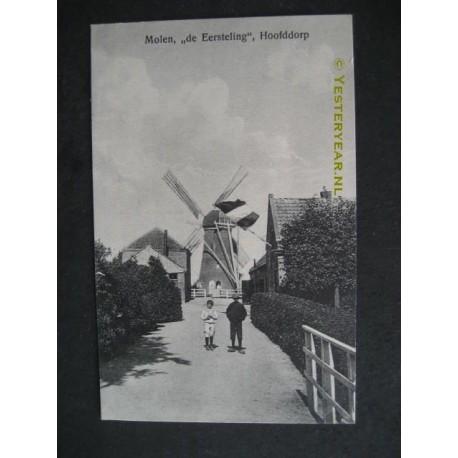 Hoofddorp ca. 1915 - Molen de Eersteling