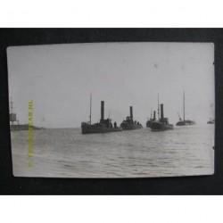 Lemmer ca. 1920 - stoomboten- sleepboot Johanna-fotokaart