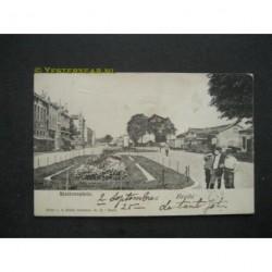 Breda 1901 - Stationsplein met stoomtram
