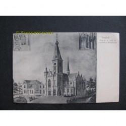 Mariaheide bij Veghel 1905 - Plan kerk en pastorie Mariaheide