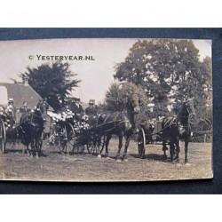 Delden ca. 1930 - paard en wagen- fotokaart onbekend