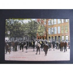 Nijmegen 1909 - Nieuwe Markt met muziekcorps