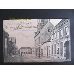 Weert 1902 - Langstraat-Markt-postkantoor-stadhuis