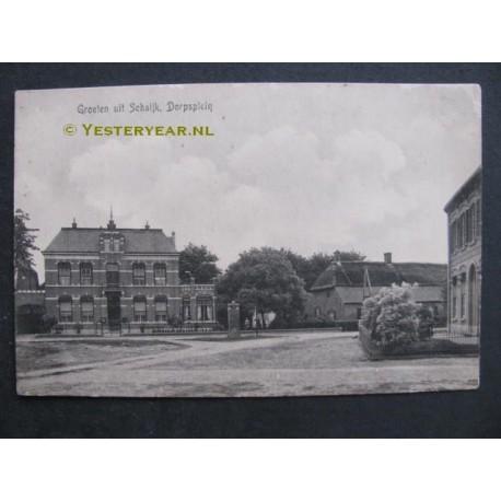 Schaijk ca. 1910 - Dorpsplein groeten uit