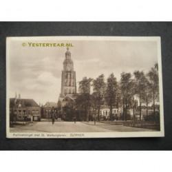 Zutphen 1934 - Martinetsingel met Walburgtoren
