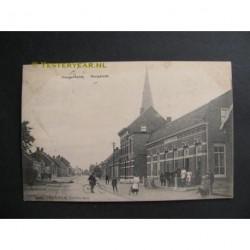 Hoogerheide 1904 - Dorpzicht station stoomtram