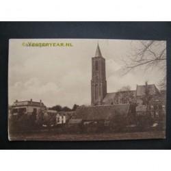 Amerongen ca. 1915 - Kerkzicht - panorama