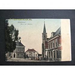 Klaaswaal ca. 1905 - Gemeentehuis - Kerk met Pastorie