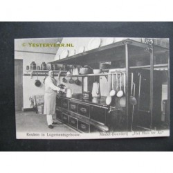 Doorwerth ca. 1915 - Modelboerderij - keuken logementsgebouw