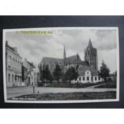 Wouw ca. 1935 - Kerk en Raadhuis
