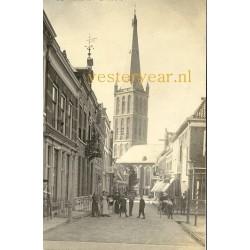 Steenwijk 1915 - Kerkstraat- de Toren - fotokaart