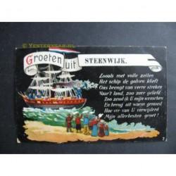 Steenwijk 1910 - groeten uit - fantasie