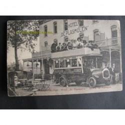 Mook 1901 - auto omnibus bij Hotel de Plasmolen