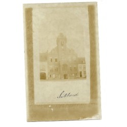 Sittard ca. 1899 - Markt met Raadhuis - fotokaart