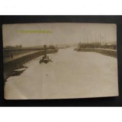 Rotterdam 1925 - stoomschip ijsbreker - fotokaart