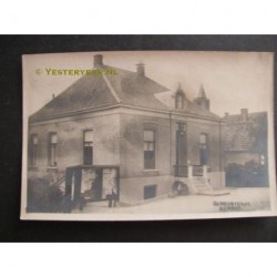 Eemnes ca. 1925 - gemeentehuis - fotokaart