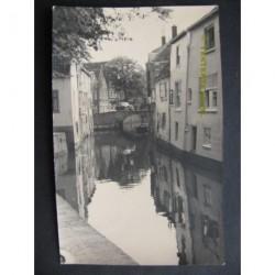 Oudewater 1950 - gracht - fotokaart
